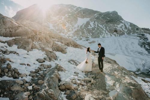 Mountain Wedding Zugspitze Eibsee